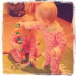 20110228 - systrar i karantän bygger klosstorn!